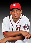 25 February 2011: Washington Nationals' infielder Alberto Gonzalez poses for his Photo Day portrait at Space Coast Stadium in Viera, Florida. Mandatory Credit: Ed Wolfstein Photo