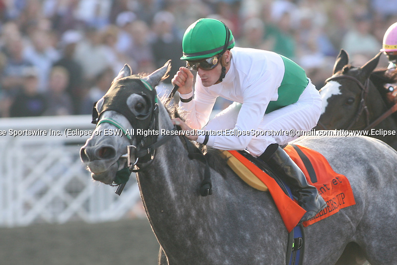 6 November 2009: Jockey Julien Leparoux guides Informed Decision to a win in the Sentient Jet Breeders' Cup Filly and Mare Sprint at Santa Anita Race Track in Arcadia, CA...