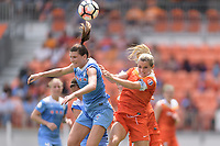 Houston, TX - The Houston Dash defeated the Chicago Red Stars 2-0 on Saturday April 15, 2017: Arin Gilliland, Kealia Ohai during a regular season National Women's Soccer League (NWSL) match at BBVA Compass Stadium.