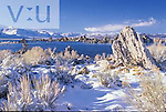 Winter view of Mono Lake from South Tufa area. California
