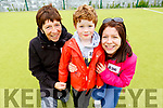 Ann Christy, Ciara and Conor O'Reilly attending the Donal Walsh 6k walk at the Spa NS on Sunday.