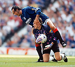 Mark Hateley gets his leg over Morton keeper David Wylie