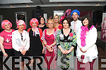 THINK PINK!: Pictured at the launch of the inaugural Pink Ribbon Walk in the Brooklane Hotel, Kenmare, on Saturday were l-r: Margaret McCarthy, Tracey Baker, Mai de Barra, Marie Therese Cahill, Sandra Bias, Lisa Regosa, Hillary Brosnan, Mike Brosnan and Paula Tiller.