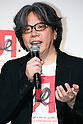 """Yugo Nakamura, Creative Director of UTme! application speaks during a special Uniqlo media event to promote the """"UTme!"""" smart phone application on April 28, 2015. The application allows customers to upload their own designs to sell through """"UTme! Market"""". Customers also can select new effects, characters and designs from Coca-Cola, Mottchy the Kakkoii-inu and fashion magazine Non-no. (Photo by Rodrigo Reyes Marin/AFLO)"""