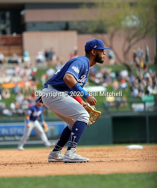Cristian Santana - Los Angeles Dodgers 2020 spring training (Bill Mitchell)