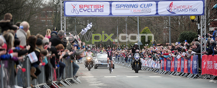 Picture by Alex Whitehead/SWpix.com - 04/04/2015 - British Cycling - Spring Cup Elite Series - Chorley Grand Prix, Chorley, England - NFTO Ian Bibby wins