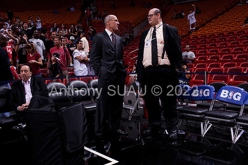 Miami, Florida<br /> January 29, 2012<br /> <br /> Inside the American Airlines Arena court just minutes before the basketball game between the Chicago Bulls and the Miami Heat.