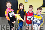 """Sophie Quillinan, Eden Ryan, Dylan O'Regan and Jamie Quillinan at the Paul Lucey Memorial """"Run for the Rock"""" in the Austin Stack GAA Club on Monday morning."""