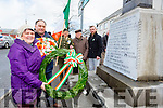 Breda roche grandniece of Pardiag O'Keeffe  who was in the GPO Garrison in 1916 and Mivhael O'Mahony lay wreaths at the monument in Rathmore on Sunday