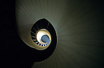 Spiral staircase at Point Loma Lighthouse Cabrillo National Monument San Diego California USA