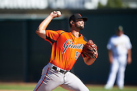 San Francisco Giants pitcher CJ Gettman (51) during an Instructional League game against the Oakland Athletics on October 5, 2016 at Fitch Park in Mesa, Arizona.  (Mike Janes/Four Seam Images)