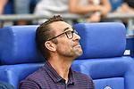 31.08.2019, VELTINS-Arena, Gelsenkirchen, GER, DFL, 1. BL, FC Schalke 04 vs Hertha BSC, DFL regulations prohibit any use of photographs as image sequences and/or quasi-video<br /> <br /> im Bild Michael Preetz (Hertha BSC) Portrait, halbportrait, Bild, einzel, Einzelaufnahme, picture, single, solo, alleine <br /> <br /> Foto © nordphoto/Mauelshagen