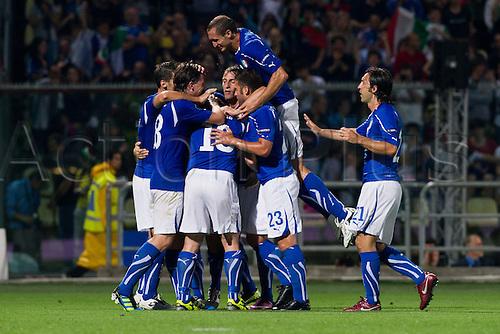 03.06.2011 Antonio Cassano and team group (ITA), Football : UEFA EURO 2012 Qualifing round, Group C, match between Italy 3-0 Estonia at Alberto Braglia Stadium, Modena, Italy.