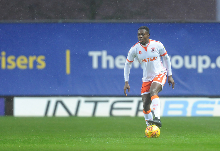 Blackpool's Marc Bola<br /> <br /> Photographer Kevin Barnes/CameraSport<br /> <br /> The EFL Sky Bet League One - Oxford United v Blackpool - Saturday 15th December 2018 - Kassam Stadium - Oxford<br /> <br /> World Copyright © 2018 CameraSport. All rights reserved. 43 Linden Ave. Countesthorpe. Leicester. England. LE8 5PG - Tel: +44 (0) 116 277 4147 - admin@camerasport.com - www.camerasport.com