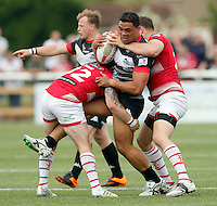 Mark Ioane in action for London during the Kingstone Press Championship game between London Broncos and Leigh Centurions at Ealing Trailfinders, Ealing, on Sun June 26, 2016