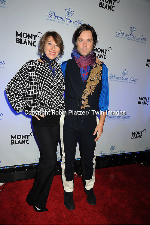 Martha and Rufus Wainwright attend The Princess Grace Foundation Awards Gala on ..November 1, 2011 at Cipriani 42nd Street in New York City.