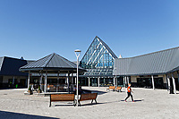 COPY BY TOM BEDFORD<br /> Pictured: The entrance to the store with its bandstand. <br /> Re: Trago Mills Mega Store, which opened its doors in Merthyr Tydfil, and is the largest store in Wales, UK. It is a &pound;65m investment creating 350 jobs in one of Britain's biggest unemployment blackspots