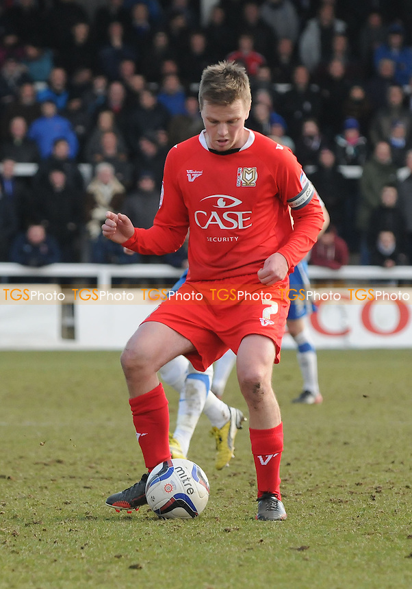 MK Dons captain Stephen Gleeson - Hartlepool United vs MK Dons - NPower League One Football at Victoria Park, Hartlepool - 29/03/13 - MANDATORY CREDIT: Steven White/TGSPHOTO - Self billing applies where appropriate - 0845 094 6026 - contact@tgsphoto.co.uk - NO UNPAID USE