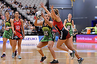 Pulse' Tiana Metuarau in action during the ANZ Premiership - Pulse v Tactix at Fly Palmy Arena, Palmerston North, New Zealand on Sunday 10 March 2019. <br /> Photo by Masanori Udagawa. <br /> www.photowellington.photoshelter.com