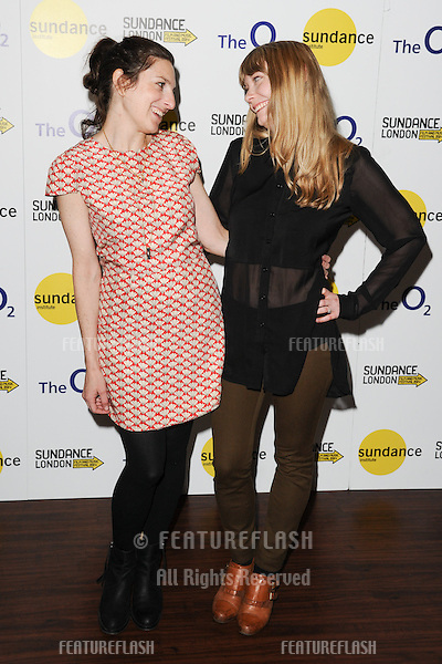 Gillian Robespierre and writer, Karen Maine<br /> at the &quot;Obvious Child&quot; screening as part of Sundance London 2014, O2 arena, London.  2014, O2 arena, London. 25/04/2014. Picture by: Steve Vas / Featureflash