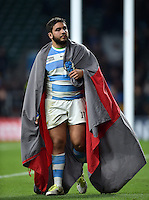 Lucas Noguera Paz of Argentina looks on after the match. Rugby World Cup Semi Final between Argentina v Australia on October 25, 2015 at Twickenham Stadium in London, England. Photo by: Patrick Khachfe / Onside Images