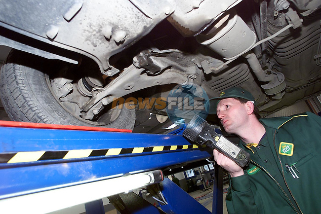 James Kerin test a car at the National Car Test Centre on the Donore Road..Picture Paul Mohan Newsfile