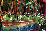 MARCHERS SUPPORT DIVERSITY int Gay Pride Parade