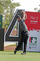 Charl Schwartzel teeing off on the 4th.on day one of the Dubai World Championship on the Earth Course at the Jumeirah Golf Estate, Dubai..Picture Fran Caffrey/www.golffile.ie.