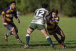 R. Koroi is taken by M. Sa'u. Counties Manukau Premier Club Rugby, Patumahoe vs Manurewa played at Patumahoe on Saturday 6th May 2006. Patumahoe won 20 - 5.