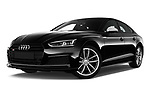 Stock pictures of low aggressive front three quarter view of a 2017 Audi S5 Sportback Base 5 Door Hatchback
