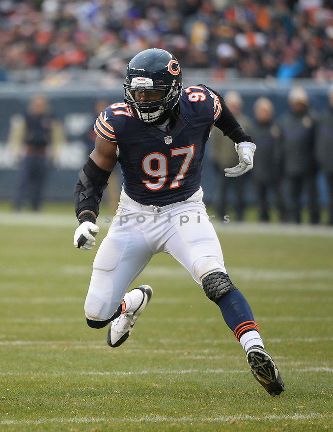 Chicago Bears Willie Young (97) during a game against the Minnesota Vikings on November 16, 2014 at Soldier Field in Chicago, IL. The Bears beat the Vikings 21-13.