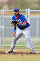 Chicago Cubs first baseman Mark Malave (17) during an Instructional League intersquad game on October 9, 2014 at Cubs Park Complex in Mesa, Arizona.  (Mike Janes/Four Seam Images)