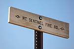 A  Mount Sentinel trail sign in Missoula, Montana