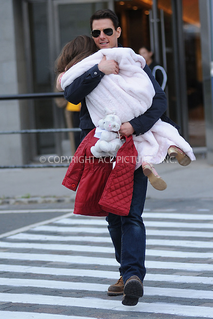 WWW.ACEPIXS.COM . . . . . .December 16, 2011...New York City....Tom Cruise and Suri Cruise out to play on December 16, 2011 in New York City.....Please byline: KRISTIN CALLAHAN - ACEPIXS.COM.. . . . . . ..Ace Pictures, Inc: ..tel: (212) 243 8787 or (646) 769 0430..e-mail: info@acepixs.com..web: http://www.acepixs.com .