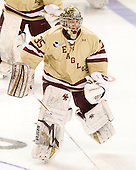 Parker Milner (BC - 35) - The Boston College Eagles defeated the Air Force Academy Falcons 2-0 in their NCAA Northeast Regional semi-final matchup on Saturday, March 24, 2012, at the DCU Center in Worcester, Massachusetts.