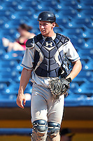 West Michigan Whitecaps catcher Robert Brantly #28 during the second game of a double header against the Lake County Captains at Classic Park on May 30, 2011 in Eastlake, Ohio.  Lake County defeated West Michigan 4-3.  Photo By Mike Janes/Four Seam Images