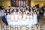 Pupils from Kilcummin NS who received their First Holy Communion in Our Lady of lourdes church Kilcummin on Saturday