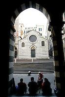 Veduta di Piazza San Matteo, con la chiesa omonima sullo sfondo, a Genova.<br /> View of Piazza San Matteo, with the homonymous church in background, in Genoa.<br /> UPDATE IMAGES PRESS/Riccardo De Luca