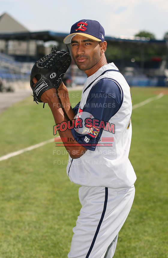 2007:  Ronald Uvideo of the State College Spikes poses for a photo prior to a game vs. the Batavia Muckdogs in New York-Penn League baseball action.  Photo By Mike Janes/Four Seam Images