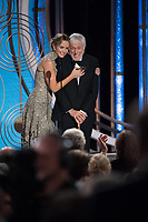 Emily Blunt and Dick Van Dyke at the 76th Annual Golden Globe Awards at the Beverly Hilton in Beverly Hills, CA on Sunday, January 6, 2019.<br /> *Editorial Use Only*<br /> CAP/PLF/HFPA<br /> Image supplied by Capital Pictures