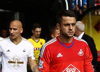 Lukasz Fabianski of Swansea   during the Barclays Premier League match Watford and Swansea   played at Vicarage Road Stadium , Watford