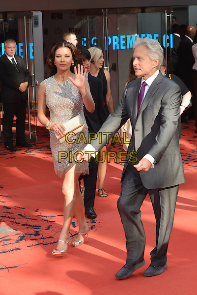 Catherine Zeta Jones and Michael Douglas<br /> attending Marvel's Ant-Man European film premiere at Odeon cinema, Leicester Square,, London England on July 8th 2015.<br /> CAP/PL<br /> &copy;Phil Loftus/Capital Pictures