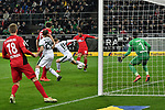 15.03.2019, Borussia-Park - Stadion, Moenchengladbach, GER, DFL, 1. BL, Borussia Moenchengladbach vs SC Freiburg, DFL regulations prohibit any use of photographs as image sequences and/or quasi-video<br /> <br /> im Bild Strafraumszene . Torchance von Vinzenzo Grifo (#32, SC Freiburg) vor Oscar Wendt (#17, Borussia Moenchengladbach) <br /> <br /> Foto © nph/Mauelshagen