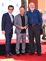 12 April 2019 - Hollywood, California - Ben Mankiewicz, Billy Crystal, Rob Reiner. TCM Honors Billy Crystal With A Hand and Footprint Ceremony held at the TCL Chinese Theatre. Photo Credit: Birdie Thompson/AdMedia