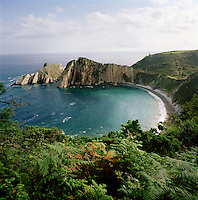The cliffs of El Silencio-Gavieira, near Cudillero, Asturias, Spain