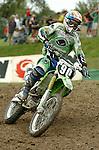 Motocross, MX2 WM 2004, Weltmeisterschaft, Grand Prix of Europe, Gaildorf (Germany) Sebastien Pourcel (FRA), Kawasaki