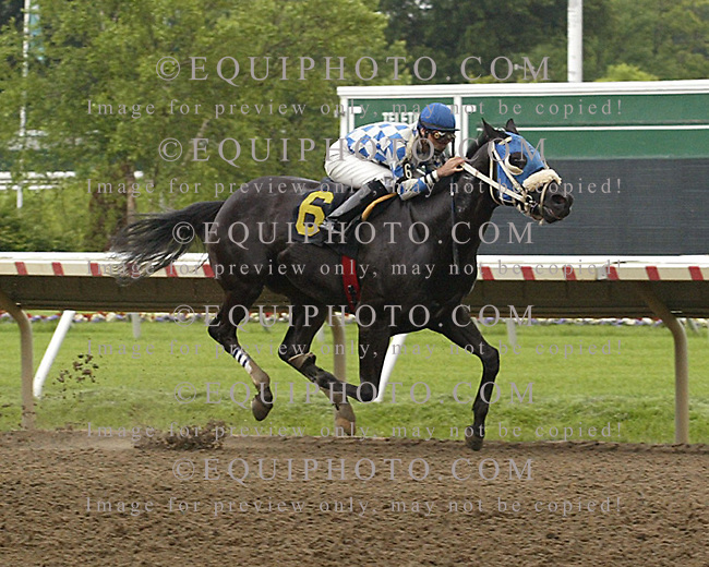 Fancy Pants Don winning at Monmouth Park on 6/19/09.  Photo By EQUI-PHOTO