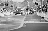 3 Belgians Greg Van Avermaet (BEL/BMC), Philippe Gilbert (BEL/Quick Step floors) & Oliver Naesen (BEL/AG2R-LaMondiale) sprint for victory<br /> <br /> 60th E3 Harelbeke (1.UWT)<br /> 1day race: Harelbeke › Harelbeke - BEL (206km)