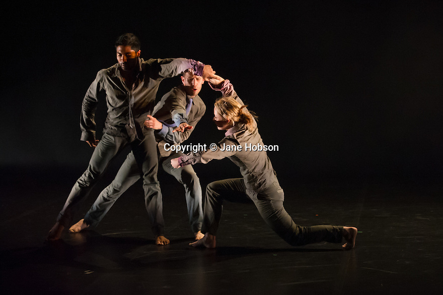 "Rambert Dance Company presents a Season of New Choreography 2012 at the Queen Elizabeth Hall, Southbank, London. Picture shows: ""Heist"", choreographed by Jonathan Goddard and Gemma Nixon. Dancers are: Jonathan Goddard Gemma Nixon, Eryck Brahmania, Estela Merlos."