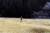 Un paesaggio nei pressi di Cogne, Parco Nazionale del Gran Paradiso in Val d'Aosta.<br /> Scenic landscape around Cogne, the Gran Paradiso National Park, Aosta Valley.<br /> UPDATE IMAGES PRESS/Riccardo De Luca